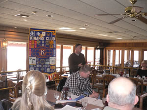 Trevor Dowdney Speaks To Kiwanis